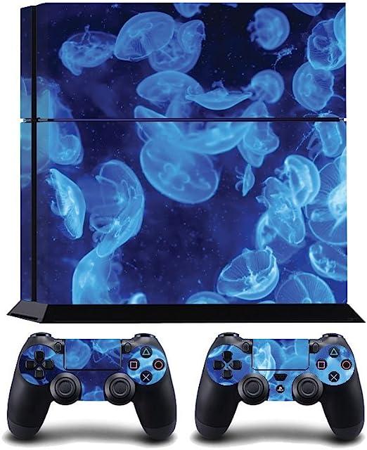 Jellyfish Print PS4 PlayStation 4 Vinyl Wrap / Skin / Cover / Pegatina para Sony PlayStation 4 Console y PS4 Controllers: Amazon.es: Hogar