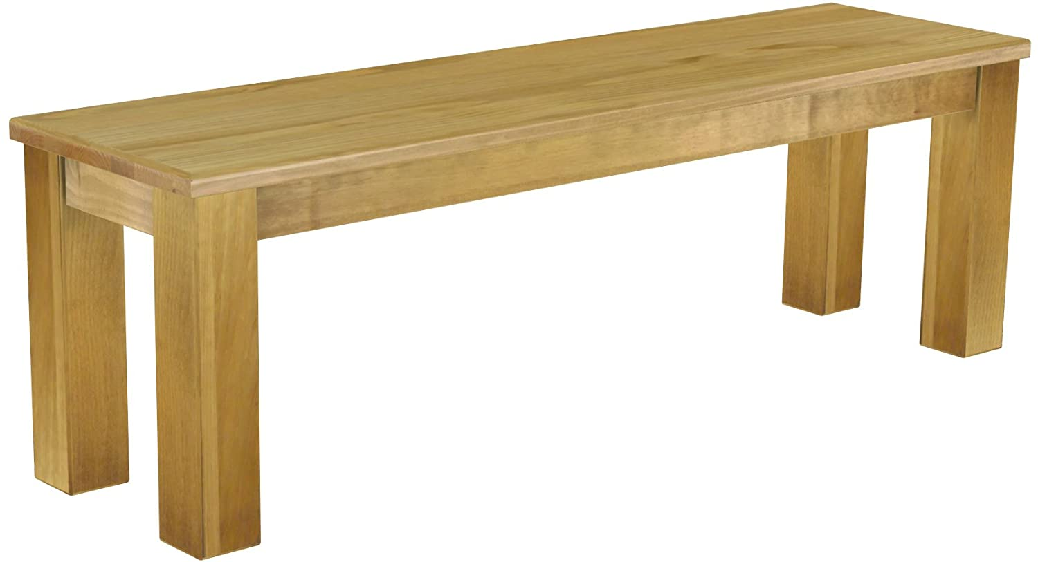 Solid Pine Bench Length 140 cm Waxed - Oiled Light Brown