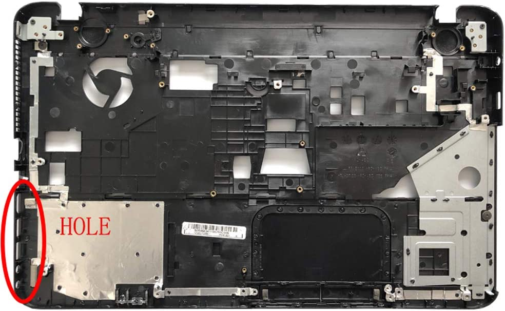Black C Shell with Hole+D Laptop Replacement Parts Fit Toshiba Satellite L850 L855 C850 C855 C855D V000271660