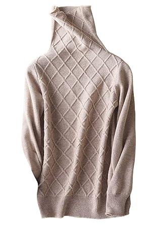 Volumen groß USA billig verkaufen klassischer Chic DISSA F4572 Damen Kaschmir Pullover Rollkragen Schlank Langarm Pullover