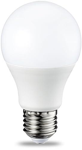 AmazonBasics Bombilla LED Esférica E27, 9W (equivalente a 60W), Blanco Cálido, Regulable - 2 unidades: Amazon.es: Iluminación
