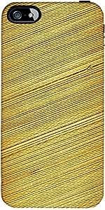 Snoogg Fondo Estera De Bambú Diseñador Protectora Volver Funda Para El Iphone 5C