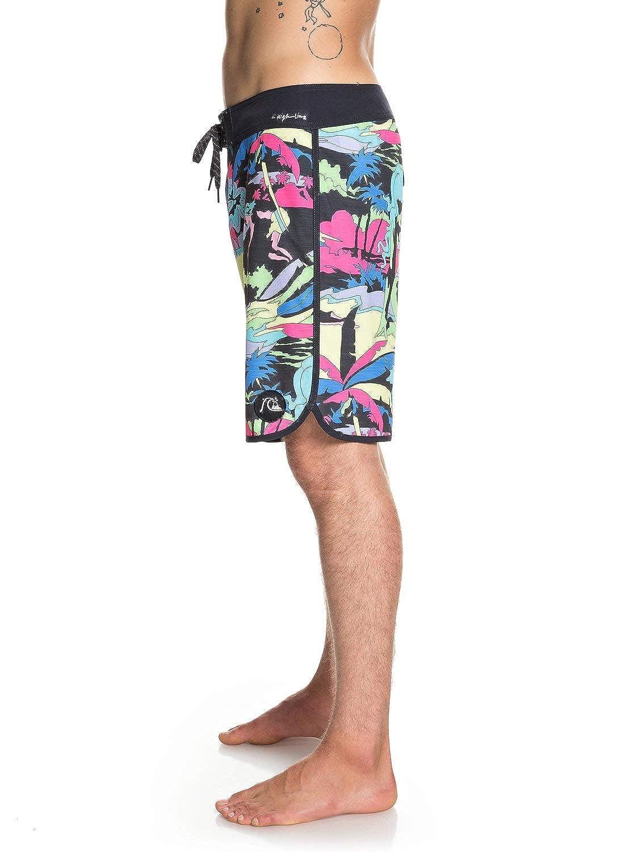 Quiksilver Mens Highline Feelin Fine 19 Boardshort Swim Trunk