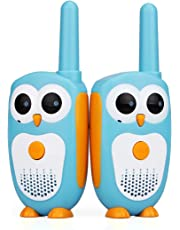 Retevis RT30 kids Walkie Talkies Owl Appearance 1 Channel 2 Buttons Easy Operation kids Toys (Blue, 1 pair)