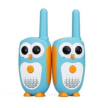 Retevis RT30 Walkie Talkie für Kinder Eule Figur Super Einfach 1 Kanal 1 DCS LED-Anzeige Gürtelclip Funkgerät Kinder Spielzeu