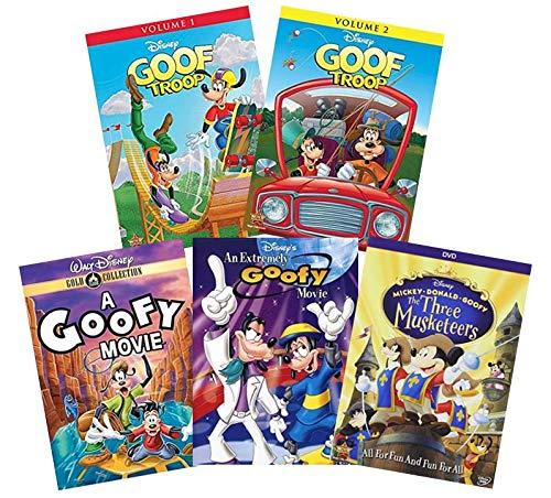 Ultimate 5-Movie Goofy Walt Disney DVD Collection: A Goofy Movie / An Extremely Goofy Movie / Goof Troop: Volume 1 / Goof Troop: Volume 2 / Three Musketeers: Mickey, Donald, Goofy