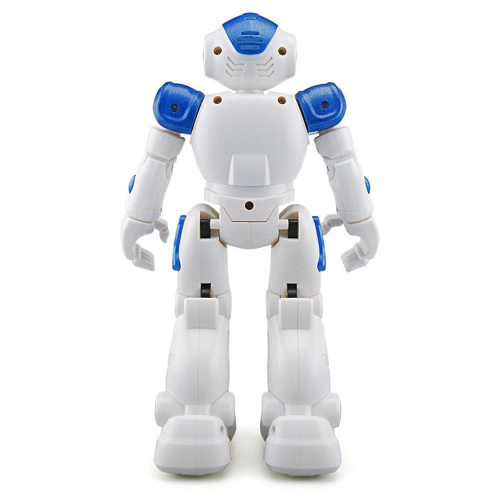 Oasics Robot teledirigido para niños, Nuevo Robot teledirigido de 2,4 GHz programable con función de Danza y Disparo, Funciones de Sonido y música, para niños y niñas