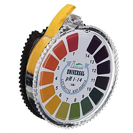 Rollo de Papel de Prueba PH con indicador de medición, Tiras de medición de líquido