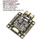 Matek PDB , Power Distirbution Board ( PDB 4*30A , Input 9-27V , BEC 5V&10V , Sensore di Corrente 184A ) Par FPV Racing RC Drone Quadcopter by LITEBEE
