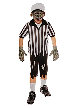 boys rotten referee zombie sports child halloween costume set s4 6