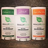 Really Good Skin Care All Natural, Aluminum Free Deodorant, 2.5 oz - OG 3 PACK - Preservative Free, Chemical Free, Cruelty Free & Vegan Odor Protection