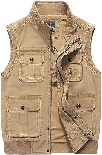 Amazon.com: Men's Military Gilets Vest Outdoor Multi Pockets Sleeveless  Jacket Top Fishing Hunting Shooting Hiking: Clothing