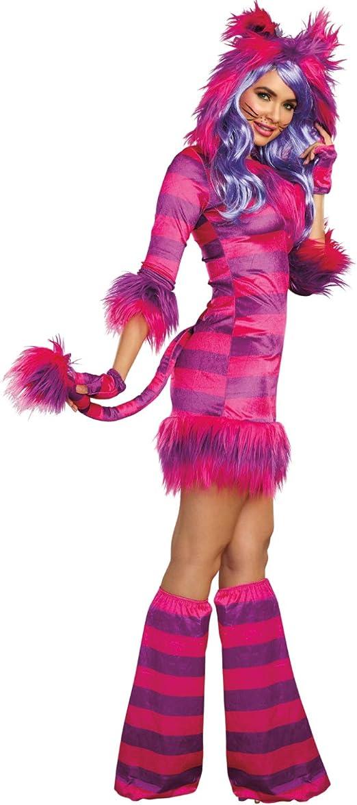 DreamGirl Disfraz Mujer Gato Sonriente Alicia en el país de Las ...