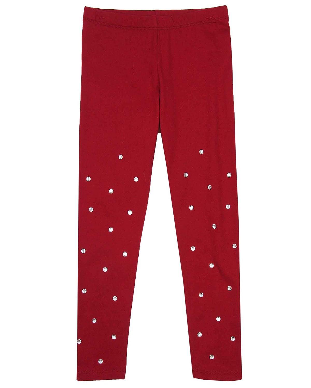 Kate Mack Girls Holiday Magic Leggings in Red Sizes 4-12