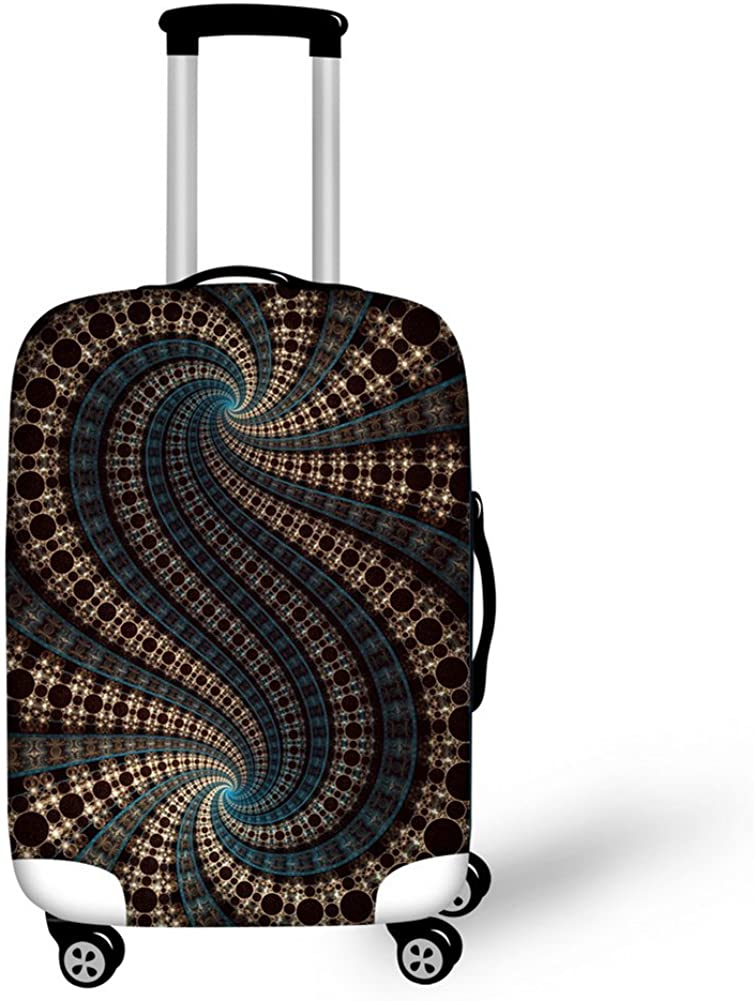 HUGS IDEA Colorful Painting Luggage Protective Covers for Suitcase