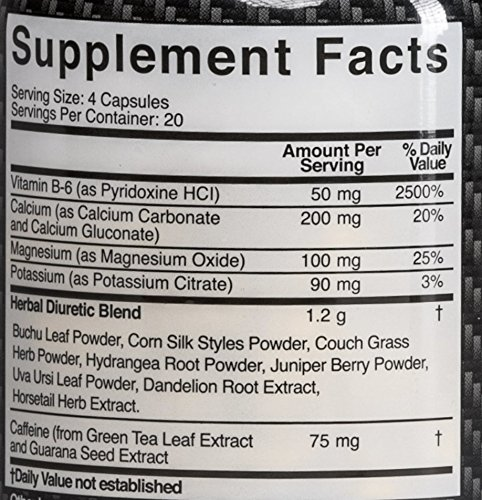HydroShed - Diuretic, Rapid Water Loss, Defines Lean Muscle, 80 Capsules - 10 Day Supply by FM Nutrition (Image #2)
