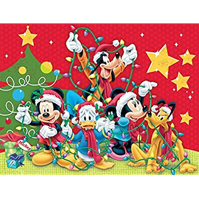 Ceaco Disney Family Christmas Jigsaw Puzzle, 400 Pieces: Toys & Games