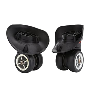 de69424101ca Yosoo 1 Pair 360 Swivel Wheel Replacement Luggage Travel Suitcase Wheels  Plastic