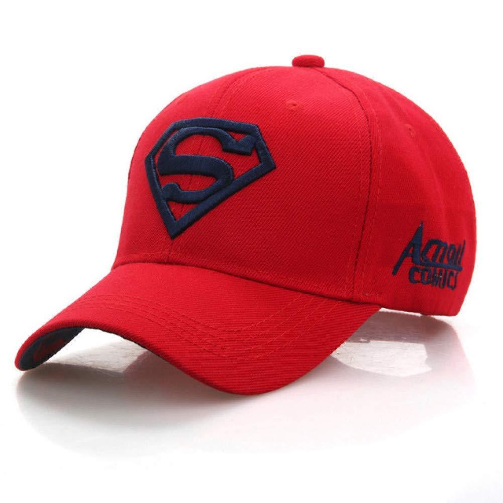 Outdoor Sports hat Baseball Cap Superman Cap Superman Baseball Cap Men Women Bone Diamond for Adult Trucker Hat Fashion GrljdHat (color   Red.Navy)