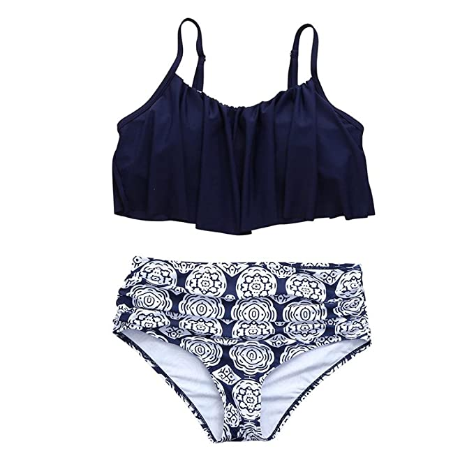 Bikini Trajes de Baño Mujer, Conjunto de Bikini de Cintura ...