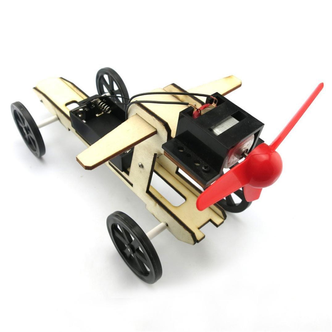 Mini Wind Powered Toy, Toamen DIY Car Kit Children Educational Gadget Hobby Funny