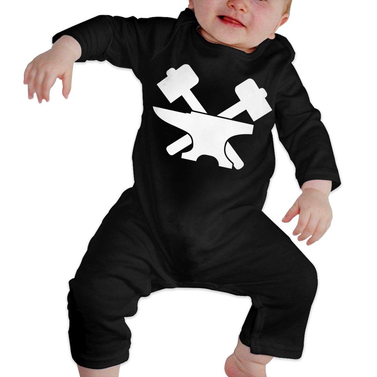 UGFGF-S3 Blacksmith Newborn Baby Long Sleeve Romper Jumpsuit Bodysuits