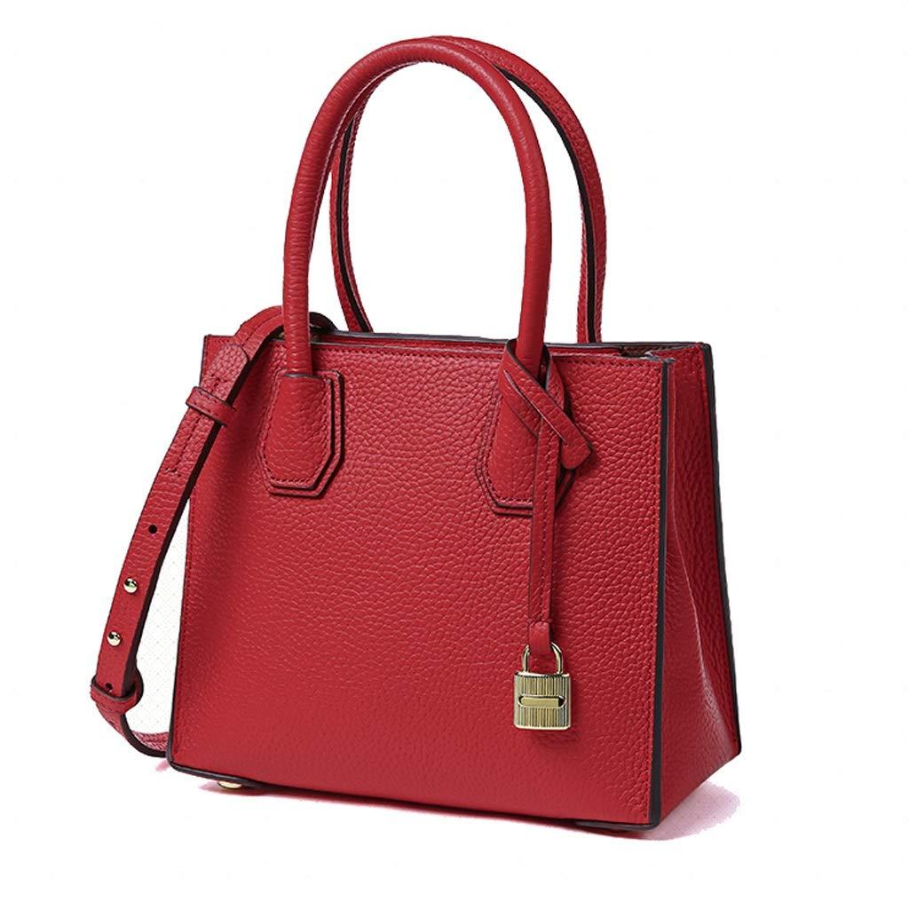 YANFEI PU Handtasche Mode Schultertasche Einfache Messenger Damen Tasche Trend Handtasche (Farbe   Schwarz) B07Q2VS39C Umhngetaschen