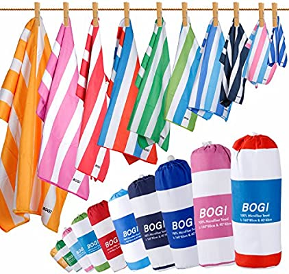 BOGI Microfiber Sports&Travel Towel-Pack of 2-L:160x80cm ...