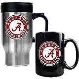 NCAA Stainless Steel Travel Mug & Ceramic Mug Set