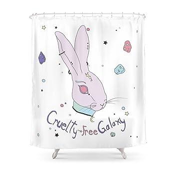 Society6 Vegan Bunny Shower Curtain 71quot