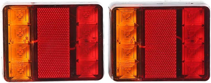 Etuker 2stk Led Anhänger Rückleuchten Bremsleuchte 12v Anhänger Rücklicht Kontrollleucht Warnlichter Wasserdichte Rückleuchten Led Anhänger Rücklicht Für Wohnwagen Rv Lkw 8 Led Chips 1 Paar Auto
