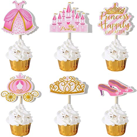 Baby Princesses Inspired Cupcake Toppers CT-589 DIY