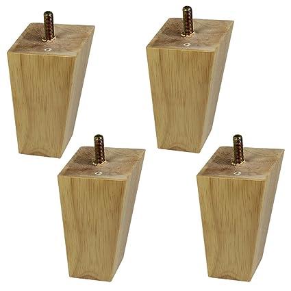 10 cm Pies de madera de goma Cama sofá pies Armario pies ...