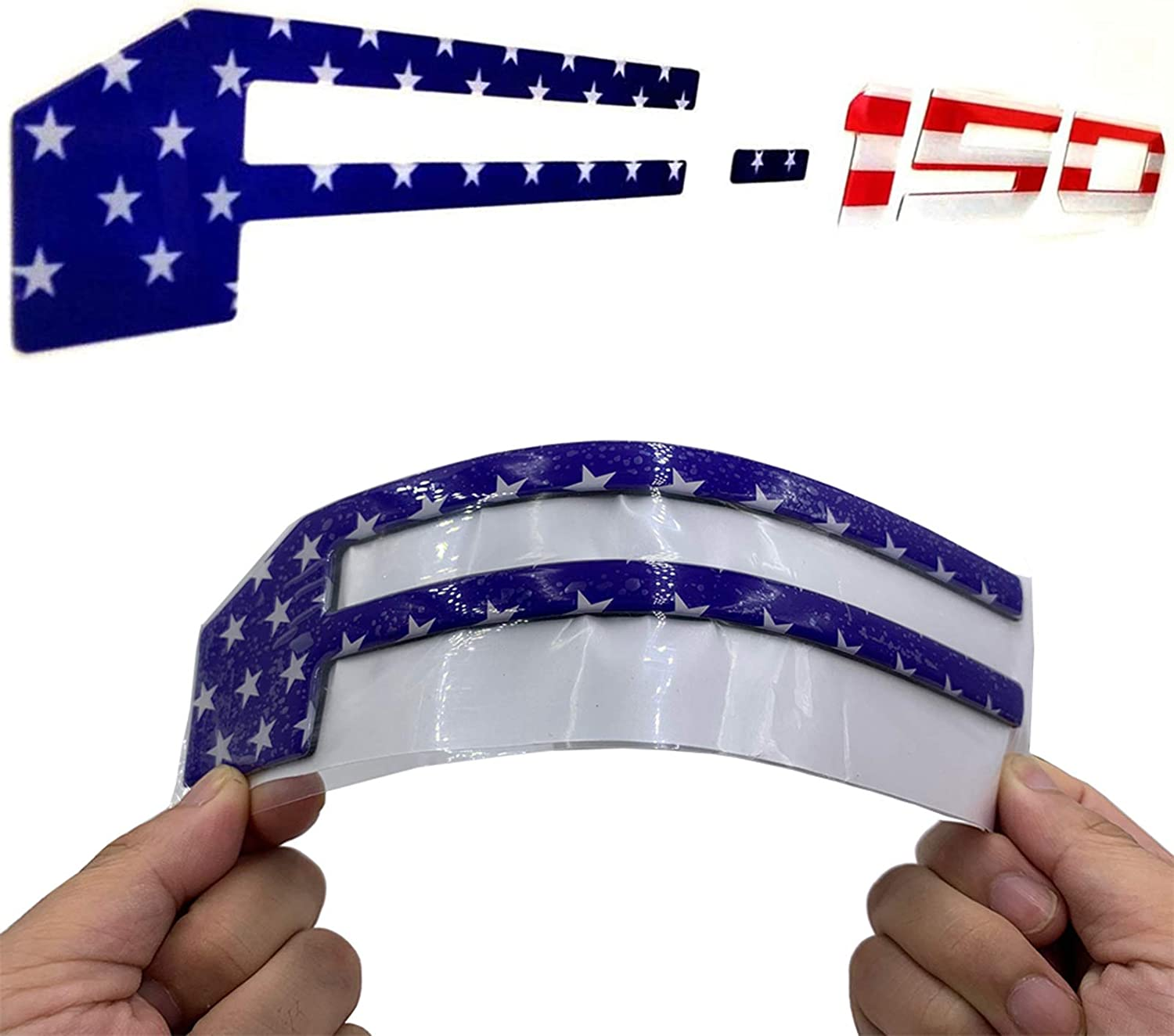 American Flag 3.2 mm Thickness 3D Raised Tailgate Insert Letters Decals Stickers for 2018 2019 2020 F150 with Strong Adhesive,Letters Are Not Emblems