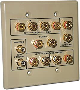Choice Select 6.2 Home Theater Connection Wall Plate, Ivory