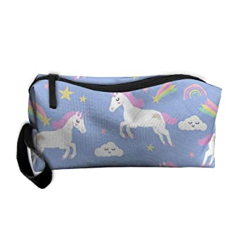 7ea5c1b2fe Rainbow Clouds Stars Cute Girls Unicorn Women s Travel Cosmetic Bags Small  Makeup Clutch Pouch Cosmetic And