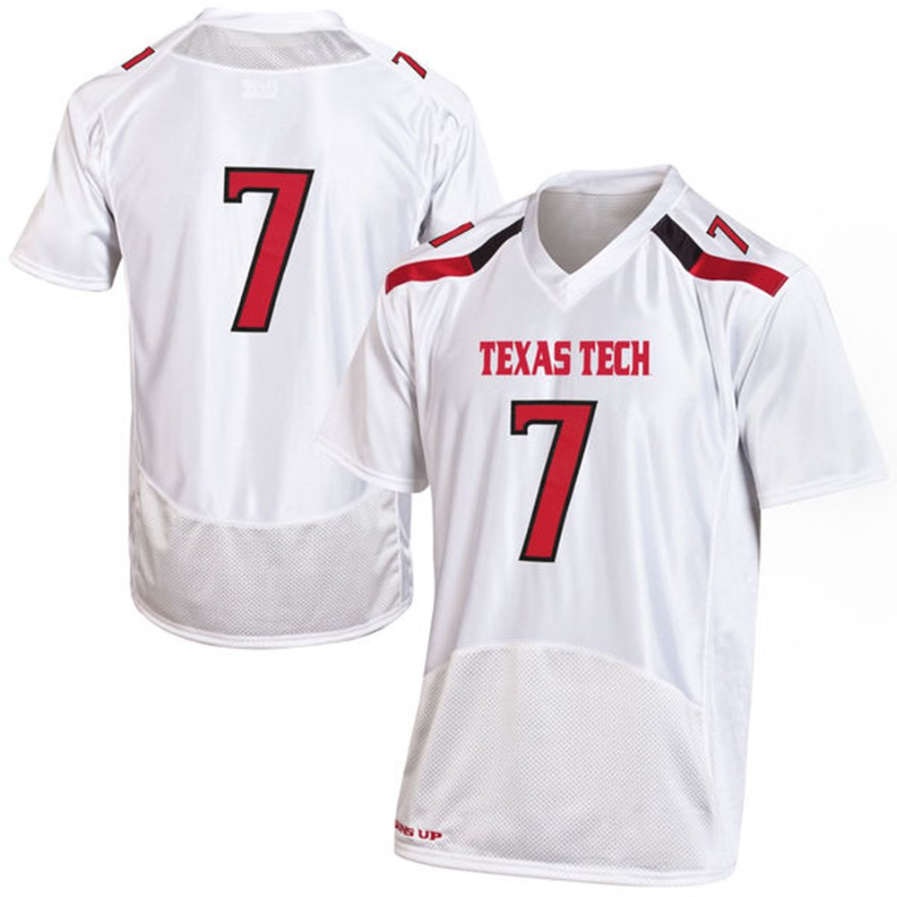 dea0eb09ddb4 NCAA Men s  7 Texas Tech Red Raiders Under Armour College Football Jersey  White best