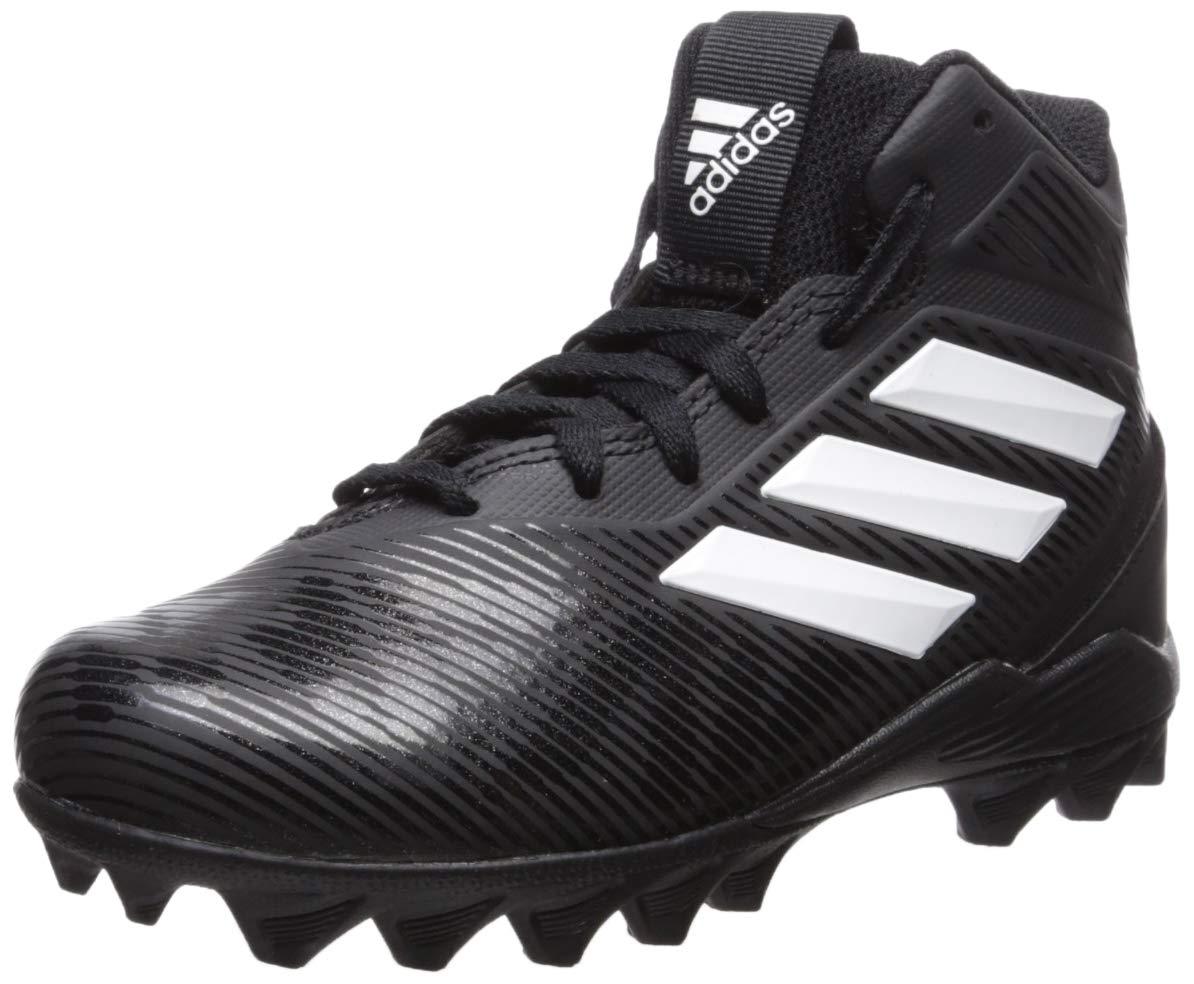 adidas Unisex Freak Mid MD Running Shoe, Black/White/Grey, 13K M US Little Kid