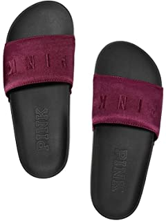 baee576e7d9f6 Amazon.com | VS Pink Victoria's Secret Pink New Single Strap Slides ...