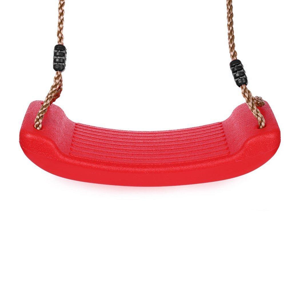 Altalena da Giardino per Bambini Sedile Flessibile per Altalena Cortile Giocattolo per Interna ed Esterna con Corda Regolabile FUQUN Altalene in Plastica