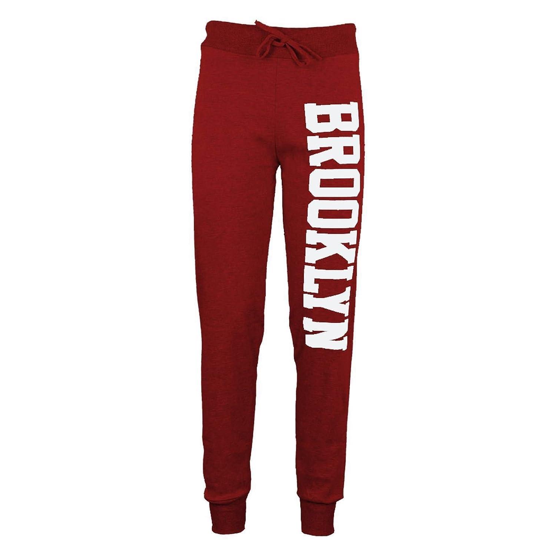 Karma Clothing Zeetaq Womens Ladies Brooklyn New York Text Print Jogger Pants Leggings Bottoms 8-22