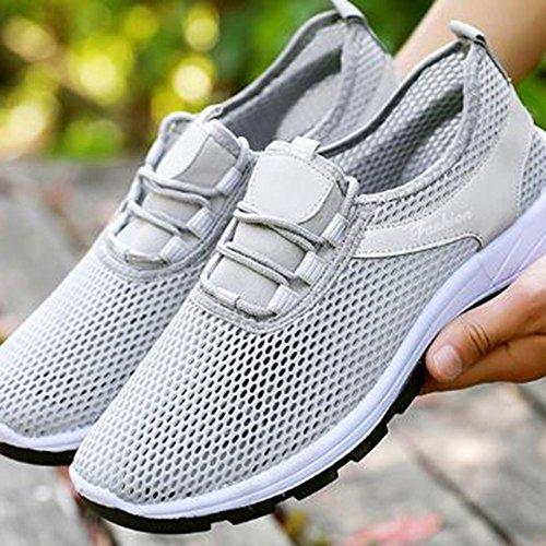 nihiug Chaussures de Randonnée Hommes Imperméables Noir Léger Net Chaussures Respirant Composite Chaussures Sangles Couture Chaussures de Sport Chaussures