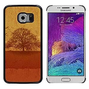 LECELL -- Funda protectora / Cubierta / Piel For Samsung Galaxy S6 EDGE SM-G925 -- Vintage Tree --