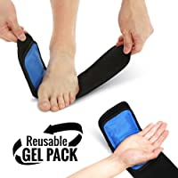 Cold & Hot Therapy Wrap by Bodyprox- Reusable Gel Pack for Pain Relief: Great for Sprains, Muscle Pain, Bruises, Injuries, Etc. (Foot, Arm, Elbow, Ankle).