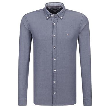 815339a5 Tommy Hilfiger Slim Two Tone Dobby Shirt (XL): Amazon.de: Bekleidung