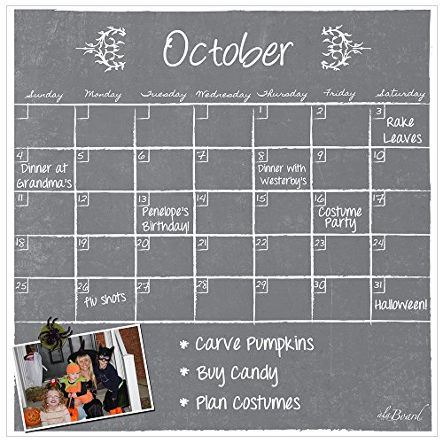 ala Board Dry Erase Magnet Calendar Gray