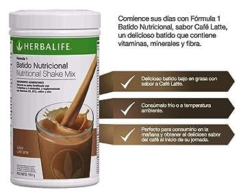 Herbalife Fórmula 1 Comida saludable Batido nutricional Mezcla Café Latte: Amazon.es: Salud y cuidado personal