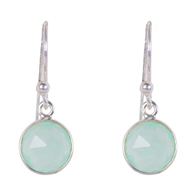 c625a3f3e Buy Silverwala 925-92.5 Sterling Silver Light Blue Chalcedony Stone fashion  Hanging Earring for Women and Girls Online at Low Prices in India | Amazon  ...