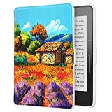 sfxscs Protective Case for Amazon Kindle Voyage(2014), The Thinnest and Lightest Premium PU Leather Slim Shell Cover with Auto Sleep/Wake, Provence
