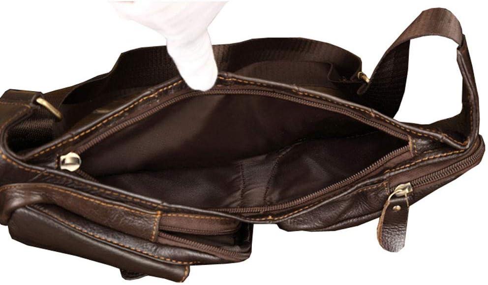 Xieben Vintage Borsa A Tracolla Borsa Monospalla in Pelle Pacchetto Crossbody per Uomo Donna Viaggi Outdoor Shoulder Pack Zaino Daypack Coffee